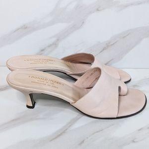 """DONALD J. PLINER """"Valore"""" Pink Leather Heel Sandal"""